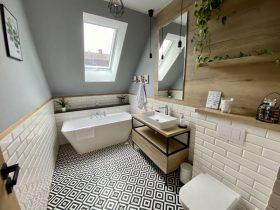 luksusowa łazienka z meblami na wymiar