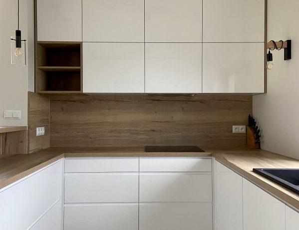 białe symetryczne meble kuchenne na wymiar Bielsko-Biała